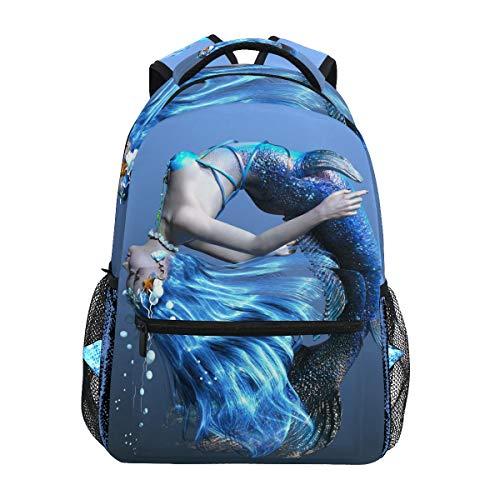 FANTAZIO Fantasio Rucksäcke 3D CG Rendering Of A Mermaid Muster Schultasche Daypack