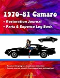 1970-81 Camaro Restoration Journal PLUS Parts and Expense Log Book: A MUST HAVE item for your Camaro restoration project!