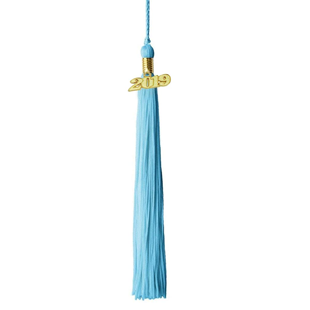 GraduationPro Two Color Academic Graduation Tassel with Gold 2019 Year Charm,9 Inch