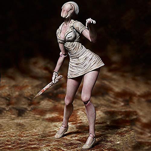 XK Silent Hill 2 Sin Rostro Enfermera Figma Caracteres Recuerdo Juguetes para El Regalo La Figura De Acción-15cm-estatua-Head Nurse-Movable Animados Faceless Nurse
