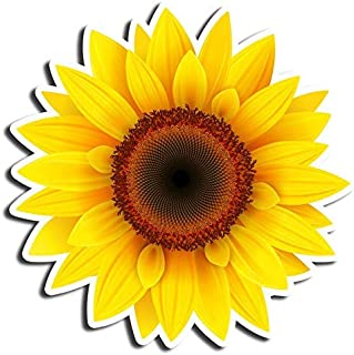Sunflower Sticker Floral Stickers Waterbottle Sticker Tumblr Stickers Laptop Stickers Vinyl Stickers (3 Pcs/Pack)