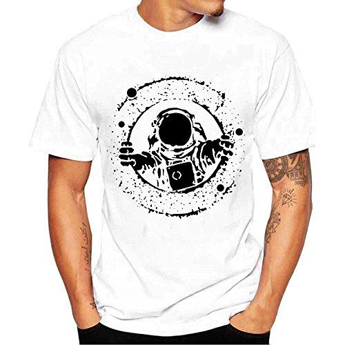 Camisetas Hombre Originales Manga Corta Verano,JiaMeng Camiseta cómoda con Cuello Redondo y Cuello Redondo de New Evil Smile de la Impresión de la Moda Camisetas (Blanco 5, XXXXL)