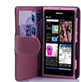 Cadorabo Funda Libro para Nokia Lumia 800 en Rosa Antiguo - Cubierta Proteccíon de Cuero Sintético Liso con Tarjetero y Función de Suporte - Etui Case Cover Carcasa