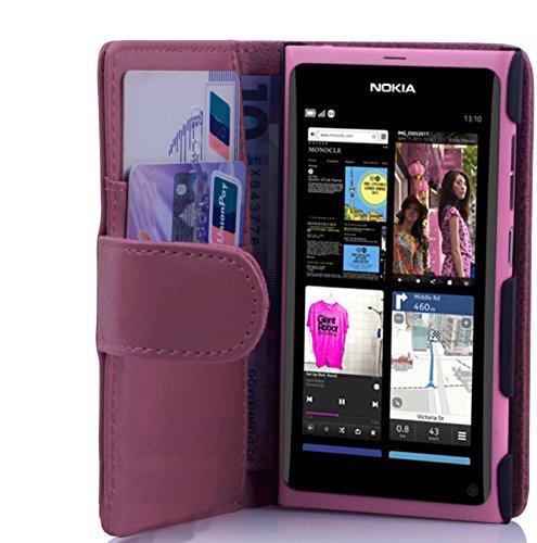 Cadorabo Custodia Libro per Nokia Lumia 800 in ROSA FUCSIA - con Vani di Carte e Funzione Stand di Similpelle Fine - Portafoglio Cover Case Wallet Book Etui Protezione