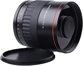 900mm F8.0 Manual Telephoto Prime Mirror Lens + T2 Mount Adapter Compatible with for Sony Alpha A-Mount (and Minolta AF) A35, A65, A77, A57, A37, A99, A58,A380