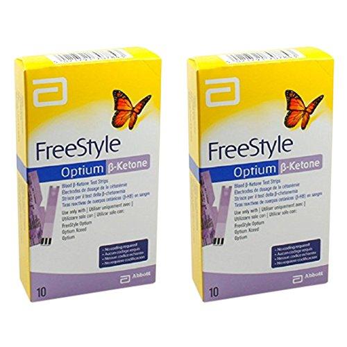 Freestyle Optium Beta-Ketone Teststreifen 10 (2er Pack)