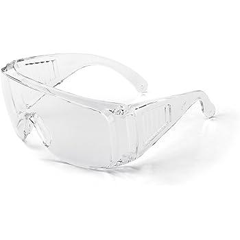 Gafas protectoras para gafas Domipet lentes claras, protecci/ón contra salpicaduras, antiara/ñazos, protecci/ón UV, antigolpes, antisaliva, polen, polvo, con lentes transparentes, 5 unidades