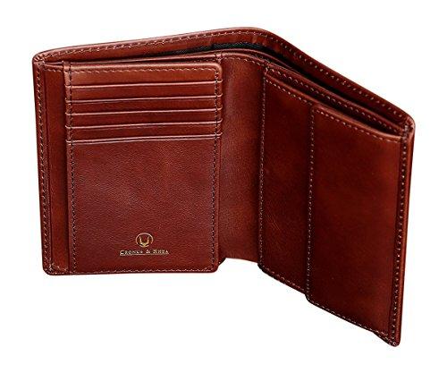 Cronus & Rhea Geldbörse mit Münzfach aus exklusivem Leder (Charon) | Geldbeutel - Brieftasche - Portemonnaie - Geldklammer | Echtleder | Mit eleganter Geschenkbox | Herren (Dunkelbraun)