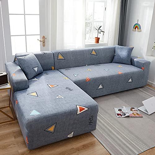 PPOS Fundas de sofá de Esquina para línea sofá Funda de sofá elástica en Forma de l Chaise Longue Fundas de sofá undefined 1-2-3-4 Funda de cojín de Asiento C16 1 Asiento 90-140cm-1pc