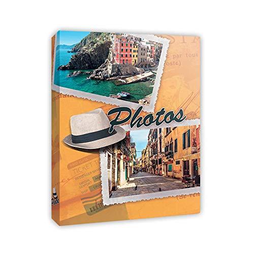 Generico Album Fotografico, 300 Tasche per fotografie 12x18/13x18/13x19/13x20(5x7) - memo + portanegativi + portacd/Dvd - Copertine Moderne 4 Fantasie a Scelta. (Cappello)