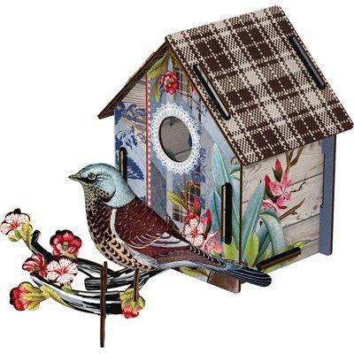 Miho - Décoration murale - Cabane à Oiseaux I'm Black ! (moyen modèle)