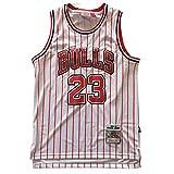 GAOJR Jordan Camiseta Bulls #23, Chaleco De Baloncesto De Rayas Blancas Y Rojas, Camiseta Sin Mangas Deportivas XXL