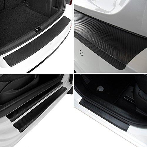 tuneon Set de films de carbone pour bords de charge et barres entrée pour Opel Corsa D 3 portes