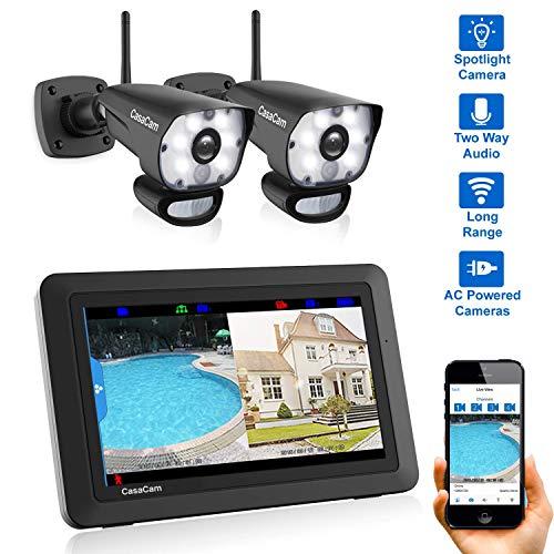 CasaCam VS1002 Wireless Security Camera System with 7