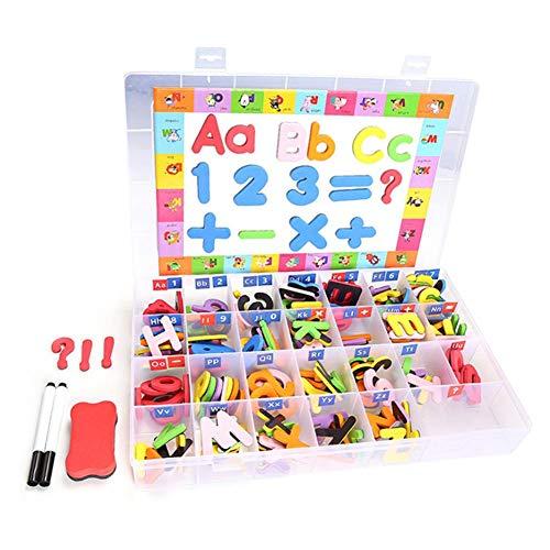 Quiet.T Kit De Letras Magnéticas para El Salón De Clases, Tablero De Imán De Doble Cara Letras del Alfabeto para Niños Ortografía Y Aprendizaje 4.6x4.6cm
