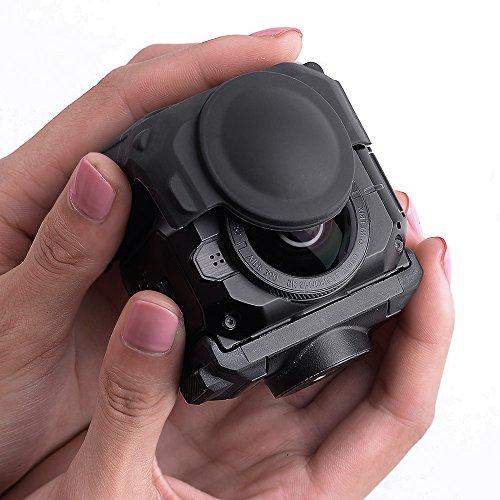 holaca protectora cubierta de lente para cámara Garmin Virb 360, carcasa de silicona para Garmin Virb 360resistente impermeable cámara de 360grados