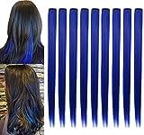 ZHIRXIN piezas de peluca azul