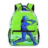 Alvaradod Mochila para portátil de viaje,concepto de deportista que juega al críquet,mochila...