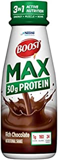 BOOST Max Nutritional Drink, 30g Protein, Rich Chocolate, 11 Ounce Bottle (Pack of 12)