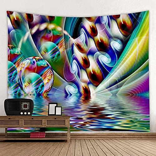 KHKJ Tapiz psicodélico de Cuentos de Hadas tapices de decoración del hogar Dormitorio Dormitorio decoración de Noche Fondo Abstracto A3 150x130cm