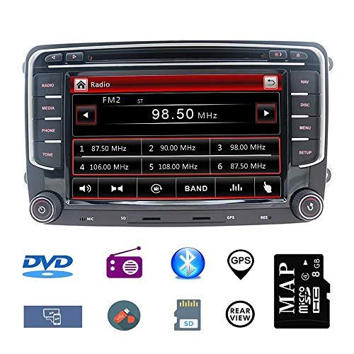 Stereo Home 8 Zoll 2 Din Autoradio Naviceiver für VW mit DVD CD GPS USB SD CANBUS FM AM RDS Video Bluetooth Lenkrad Bedienung Wince6.0 SWC 8GB Kart