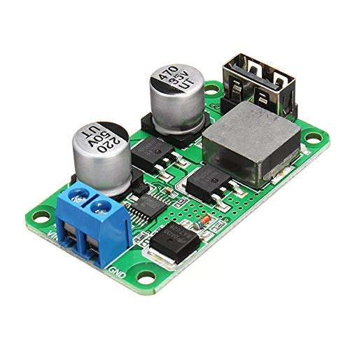 ZGQA-GQA 3pcs 5V 5A DC USB Buck High Efficiency Module USB Charging Step Down Power Board High Current Support QC3.0 Quick Charger Module Receivers