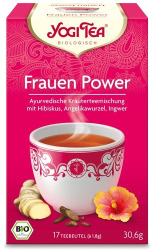 Yogi Tee, Frauenpower-Tee, 4er SPARPACK , Biotee, lieblich, fruchtiger Tee, je 17 Teebeutel a 30,6g