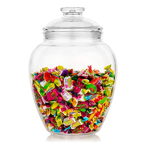 Modern Innovations 128-Ounce Candy & Cookie Jar with Lid, Premium Acrylic...