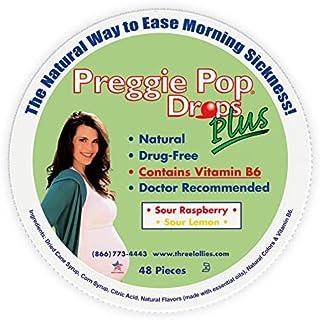 Preggie Pop Drops Plus w/ Vitamin B6, Morning Sickness Relief, 48 Count