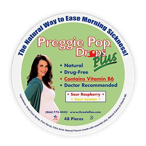 Preggie Pop Drops Plus w/Vitamin B6, Morning Sickness Relief, 48 Count