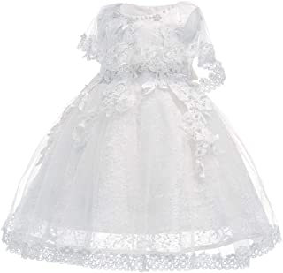 KINDOYO Baby Girls Dress - Baby Newborn Girls Tulle Flower Lace Cute Pretty Bridesmaid Christening Princess Dresses