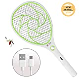 ZOMAKE Bug Zapper Racket,Electric Fly Swatter,Rechargeable Mosquito Fly Killer - USB Charging