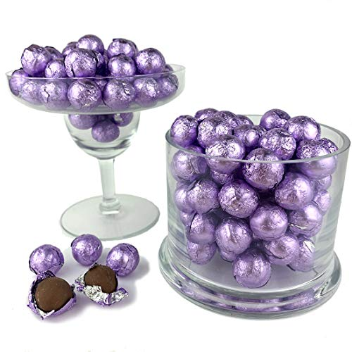 Color It Candy Lavender Foiled Wrapped Premium Chocolate Balls