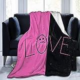 NATHANDAVISON Mantas para Cama Brave Lil Love-Peep Manta Unisex súper Suave y cómoda para Adultos y niños Manta de Franela Anti-Pilling Manta para arrojar Calor 125 cm × 100 cm