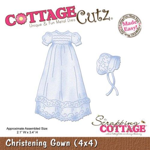 Cottage Cutz 4-Zoll Taufkleid sterben Schnitte mit Schaumstoff