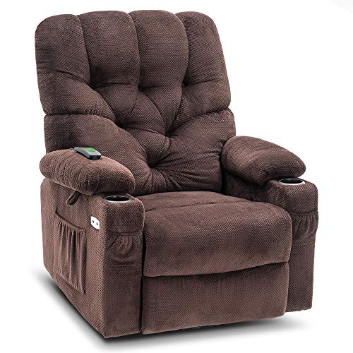 Mcombo Electric Power Swivel Glider Rocker Recliner Chair with Cup...