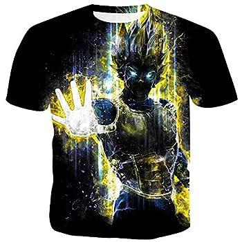 Hycsen Unisex Casual Cool 3D Dragon Ball T-Shirts Summer Fashion Shirts-Vegeta_1-M