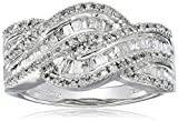 10K White Gold Diamond Twist Band Ring (1/2 cttw), Size 8