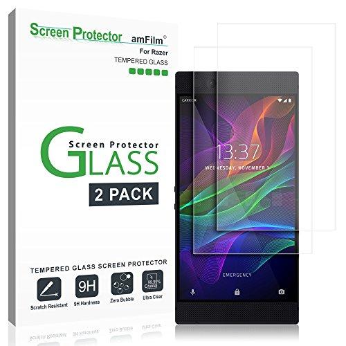 amFilm Glass Screen Protector for Razer Phone 2, Razer Phone (2 Pack) Tempered Glass