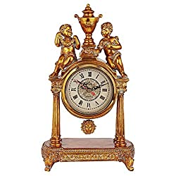 Design Toscano Arch of Aion God of Time Pendulum Mantle Clock, 14 Inches, Antique Gold