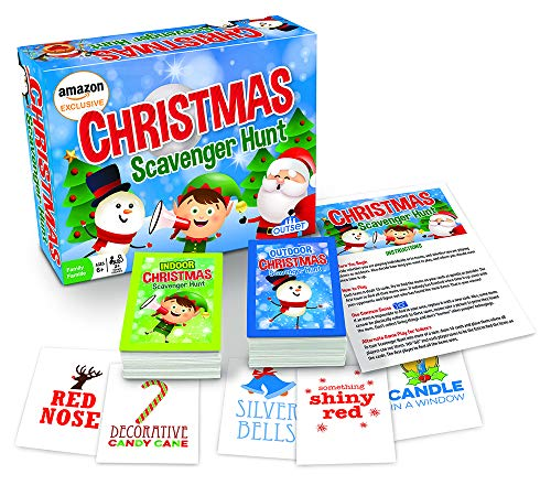Christmas Scavenger Hunt Game (Amazon Exclusive) – Contains 220 Cards – Christmas Themed Party Game for 2 or More Players Ages 6 and up by Outset Media
