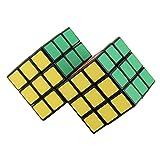 dailymall 3x3x3 2 Cubo Mágico Combinado Speed Cube Puzzle Brain Teaser Juego de Juguete
