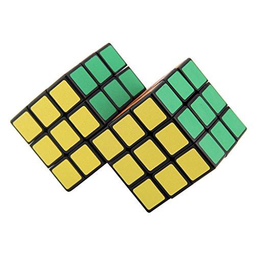 chiwanji 3x3x3 2 Cubo Mágico Combinado Velocidad Cubo Puzzle Rompecabezas Juego Juguete