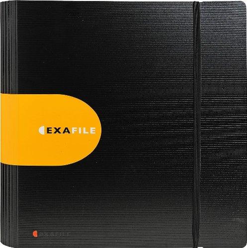 Exacompta 53534E Exafile Ordner (aus festem PP, 1.9 mm, 2 Ringe, 65 mm Rücken, DIN A4, 21 x 29,7 cm) 1 Stück schwarz