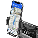 APPS2Car Sturdy CD Slot Phone Mount with One Hand Operation Design, Hands-Free Car Phone Holder Universally Compatible with All iPhone & Android Cell Phones, for Smartphone Mobile