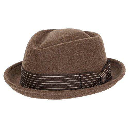 9th Street 100% Wool 'Boxer' Porkpie Hat (Medium (fits 7 to 7 1/8), Brown)