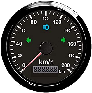 ELING GPS Tachometer 200km/h für Auto Motorrad ODO Kilometerstand einstellbar 85mm 12V 24V Wasserdicht