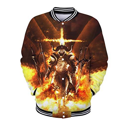 Warcraft Pullover Otoño Cálido Sweatshirt Men Classic Basic Pullover Soft Algodón Abrigos...