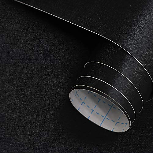 17.7 in X 118 in Black Design Peel and Stick Wallpaper Decoration Self Adhesive Removable Contact Paper for Cabinet Furniture Countertop Wardrobe