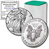 2021 Lot of (10) 1 oz Silver American Eagle Brilliant Uncirculated in United States Mint Tube with our Certificates of Authenticity by CoinFolio $1 BU